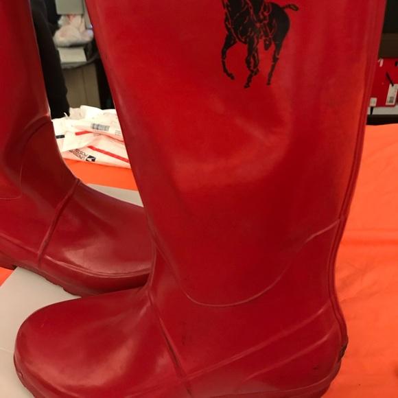 Ralph Lauren Red Rain Boots